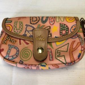 Dooney & Bourke Pink Graffiti Wristlet